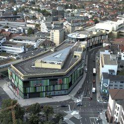 Die neue Mall K in Lautern - Blick vom Rathausdach auf die zukünftige Neue Stadtmitte, Quelle www.kaiserslautern.de