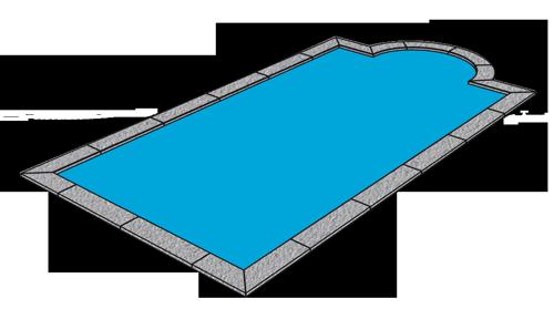 eingebaute Pool Platte