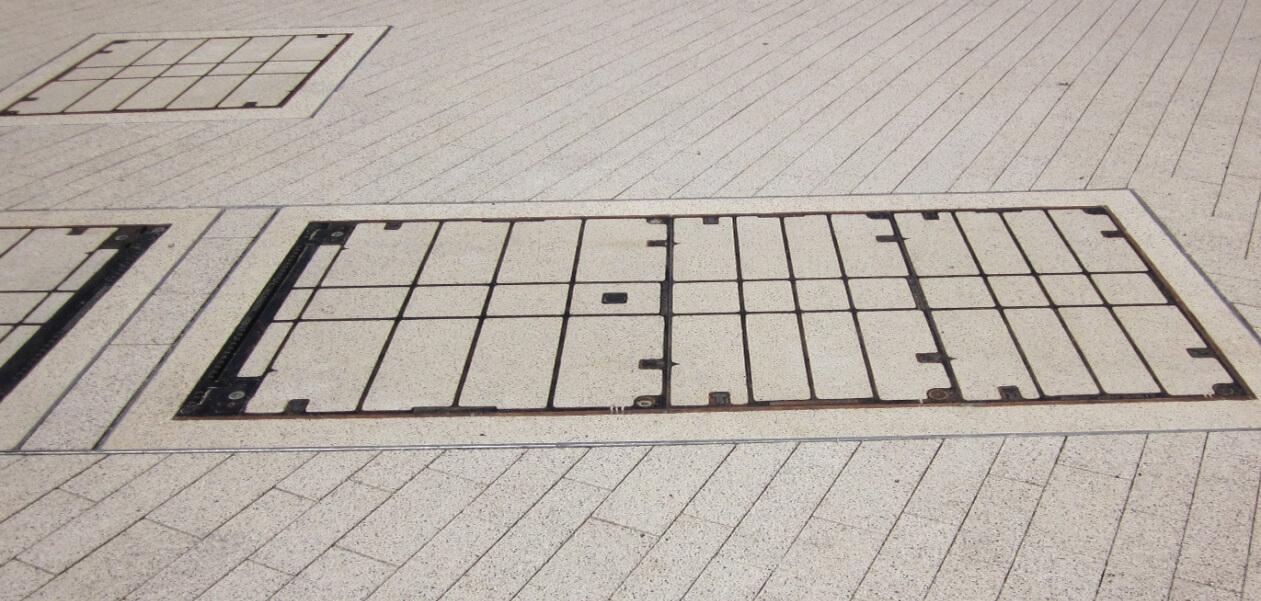 Ausbetonierte Schacht- und Kanaldeckel